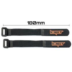 KN-LIPO.STRAP-180 Strap pour accus LiPo 180 mm (2 pieces) KN-LIPO.STRAP-180 Konect RSRC