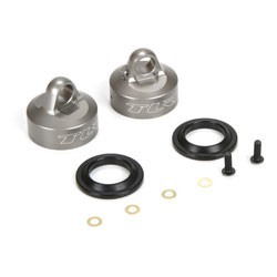 16mm Bleeder Shock Caps, Aluminum (2): 8 & 8T 4.0 TLR243034