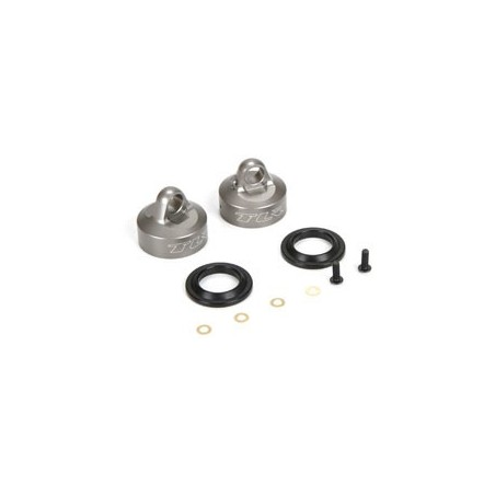 16mm Bleeder Shock Caps, Aluminum (2): 8 & 8T 4.0 TLR243034