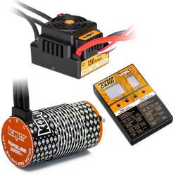 KN-COMBO-M9 COMBO BRUSHLESS 1/8 150Amp WP + Moteur 4P. 4274 2200KV +carte de prog KN-COMBO-M9 Konect RSRC