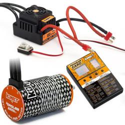 KN-COMBO-L3 COMBO BRUSHLESS 1/8 100Amp WP + Moteur 4P. 4274 2200KV +carte de prog KN-COMBO-L3 Konect RSRC