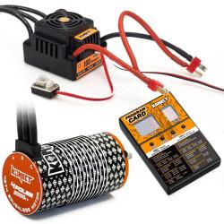 KN-COMBO-L2 COMBO BRUSHLESS 1/8 100Amp WP + Moteur 4P. 4274 2000KV +carte de prog KN-COMBO-L2 Konect RSRC