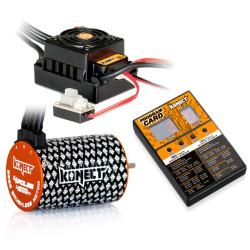 COMBO BRUSHLESS 50Amp WP + moteur 4P 3652SL 4600Kv +carte de...