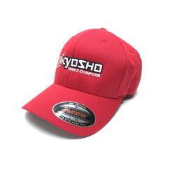 KYOSHO FLEXFIT CAP L/XL - RED Kyosho 88001R - RSRC...