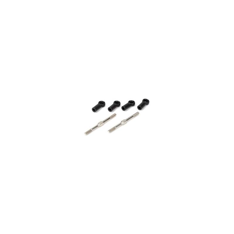 LOSA6542 Turnbuckles 4mmx60mm w/Ends:8B LOSA6542  RSRC