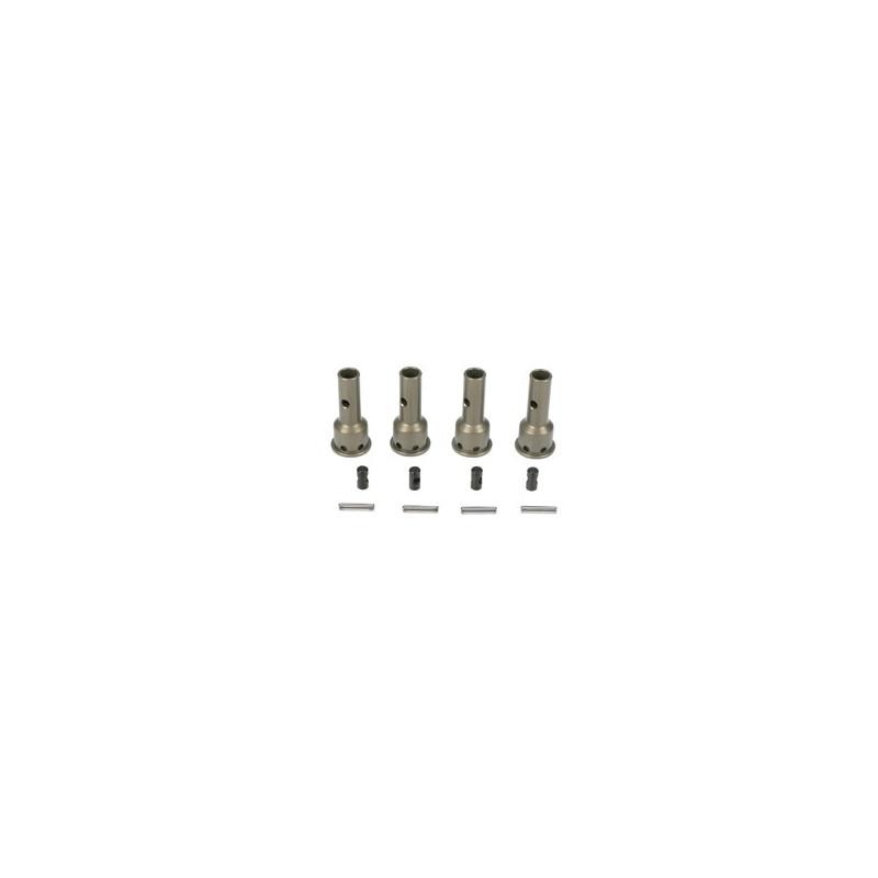 TLR3500 F/R CV Driveshaft Axles, Aluminum (4): 8B, 8T 2.0  RSRC