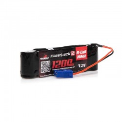 DYNB2473 Batterie 7.2V 1200mAh Ni-MH en long avec EC3: Minis 1/18 DYNB2473 Losi RSRC