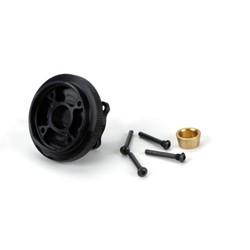 Flywheel & Collet, Steel, 4 Shoe: 8B, 8T