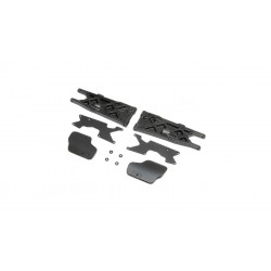 TLR244070 Triangles arrière avec inserts et protections (2): 8XT Team Losi Racing RSRC