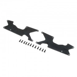 TLR344048 Rear Arm Inserts, Carbon: 8XT Team Losi Racing RSRC