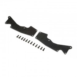 TLR344047 Front Arm Inserts, Carbon: 8XT Team Losi Racing RSRC