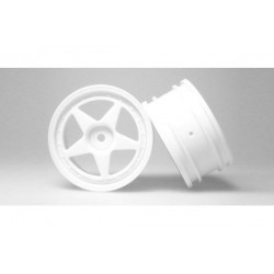 Jantes 1:10 Touring 26mm 5-Spoke (2) - Blanches AMR AMR-9256...