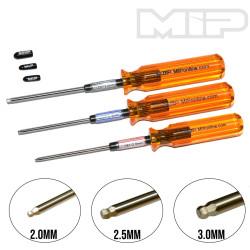 MIP9506 MIP Hex Driver Ball Wrench Set 2.0mm, 2.5mm, & 3.0mm MIP RSRC