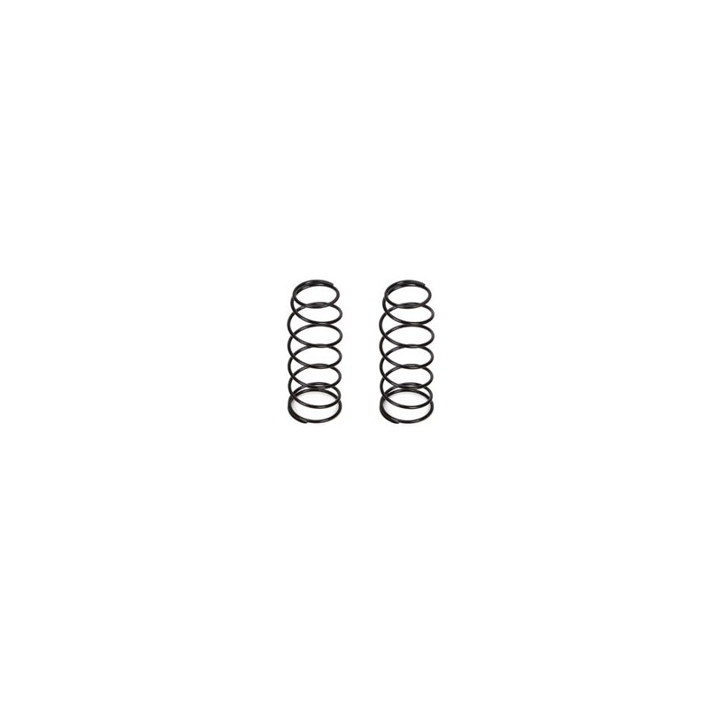 16mm FR Shk Spring, 5.0 Rate, Black (2): 8B 3.0
