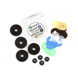 MIP Bypass1™ Pistons, 6-Hole (6+6) Set for XRAY XB8 MIP MIP1...