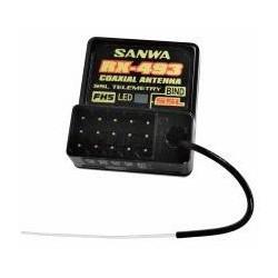 107A41373A RECEPTEUR RX-493 4 VOIES 2,4GHZ FH5 SSL/TELEMETRIE Waterproof Sanwa RSRC