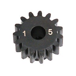 LOSA3575 1.0 Module Pitch Pinion, 15T: 8E,SCTE