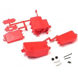 Red Receiver and Battery Box Kyosho Inferno MP9-MP10 IFF001KRB