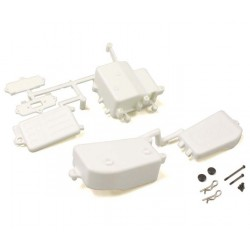 White Receiver and Battery Box Kyosho Inferno MP9-MP10 IFF001WB