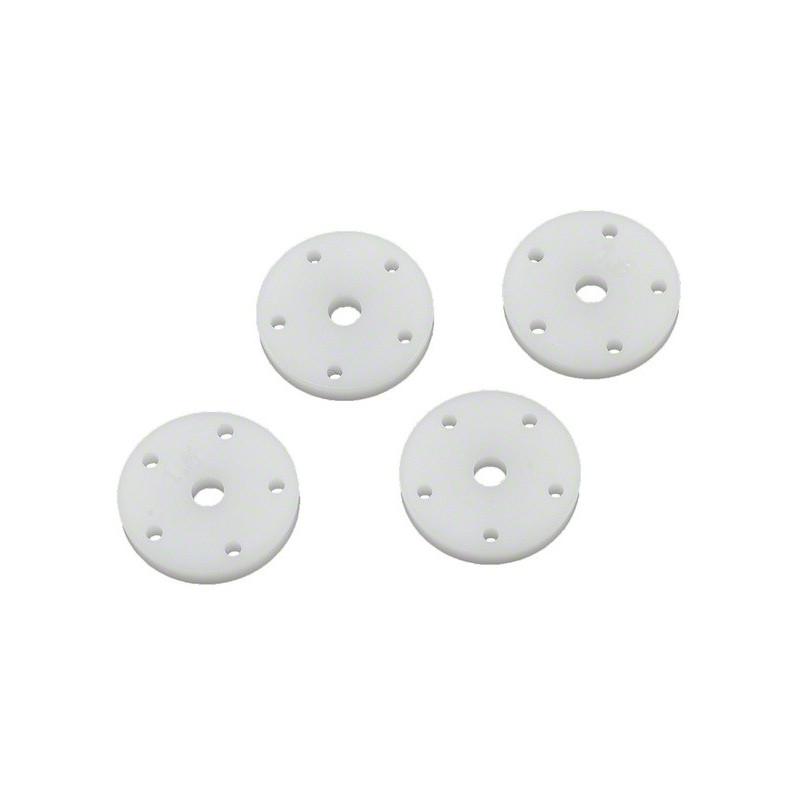 Pistons d'amortisseurs 16mm, 5 trous 1,4mm (2) et 5 trous 1,5mm (2)