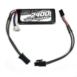 Batterie de réception avec fiche FINO soudée pour Mugen/Ae/sworkz