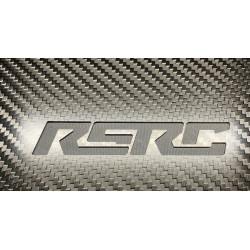 Planche de réglages carbone RSRC pour buggys 1/8 et 1/10 logo gravé
