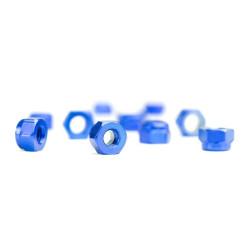 M3 Blue Aluminum Nylon nuts (10) Avid RC locknuts