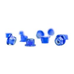 Ecrous Nylstop M3 épaulés Aluminium Bleus (10)