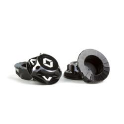 Ecrous de roues borgnes 1/8 17mm noirs (4) fermés