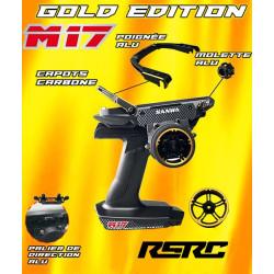 Radio Sanwa M17 Gold Edition avec récepteur RX493 + batterie Lipo 101A32476A