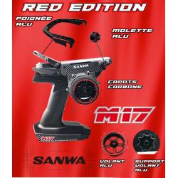 Radio Sanwa M17 Red Edition rouge avec récepteur RX493 + batterie Lipo