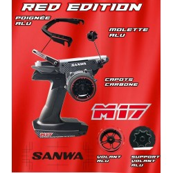 Sanwa M17 Red Limited Edition with RX493 receiver and lipo battery 101A32475A