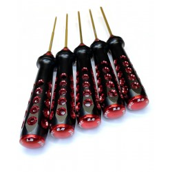 RSRC Hex drivers wrench set: 1.5mm, 2.0mm, 2.5mm, 2.5mm ball, 3.0mm