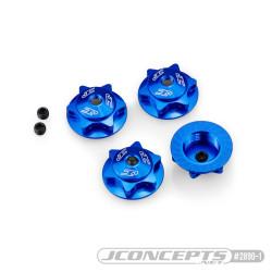 Ecrous de roues magnétiques Jconcepts Finnisher bleu aluminium 2890-1