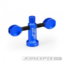 17mm Magnetic wheel wrench Jconcepts Finnisher 2890-1 blue aluminum