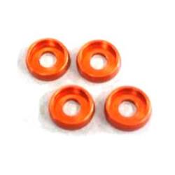 Rondelles incurvees 4mm. (4) Orange AMR AMR-027OR - RSRC