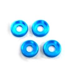 Rondelles incurvees 4mm. (4) Light Blue AMR AMR-027LBL - RSRC