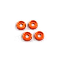 Rondelles incurvees 3mm. (4) Orange AMR AMR-026OR - RSRC