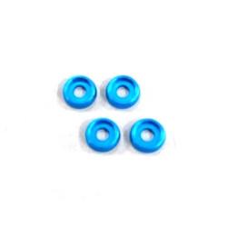 Rondelles incurvees 3mm. (4) Light Blue AMR AMR-026LBL - RSRC