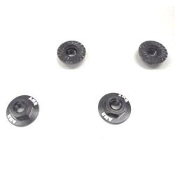 Serrated Large Diameter 1:10 Aluminium Wheel Nuts (4) Black