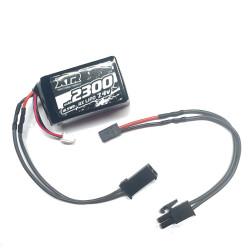 Batterie de réception avec fiche FINO soudée pour Kyosho/HB/...