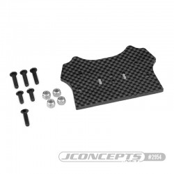 Support carbone HB D8T Evo 3 pour carrosserie F2 Truggy Bruggy 2954