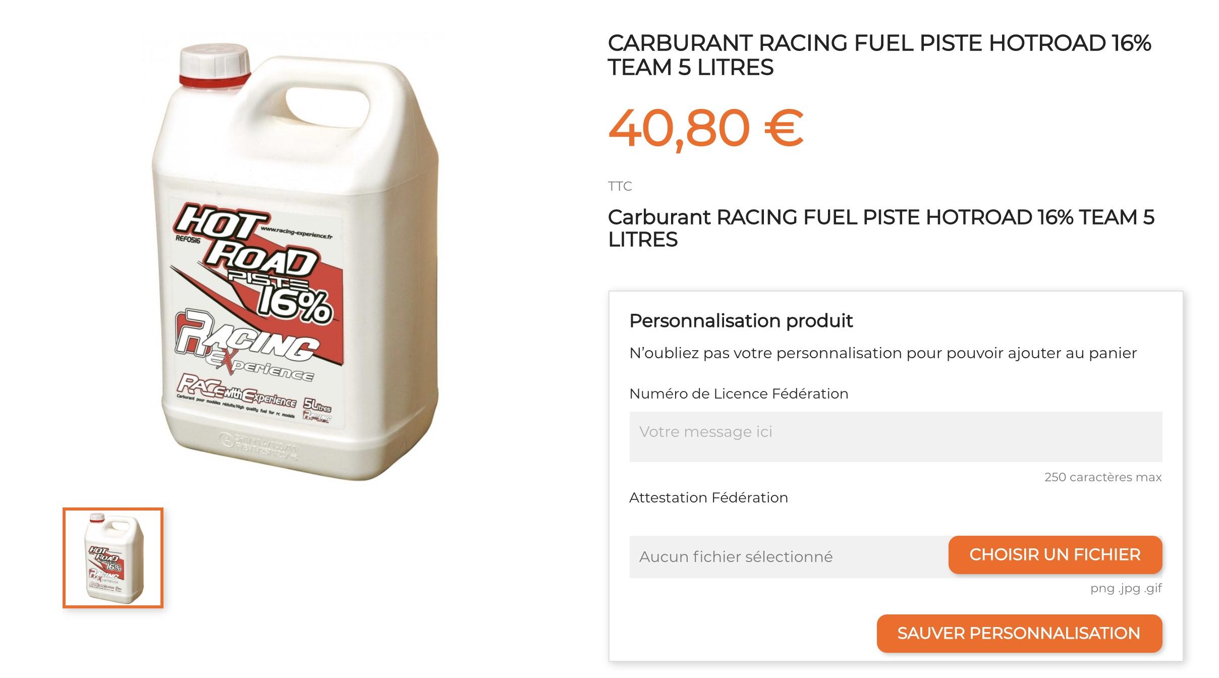 Carburant Hot Road validation site