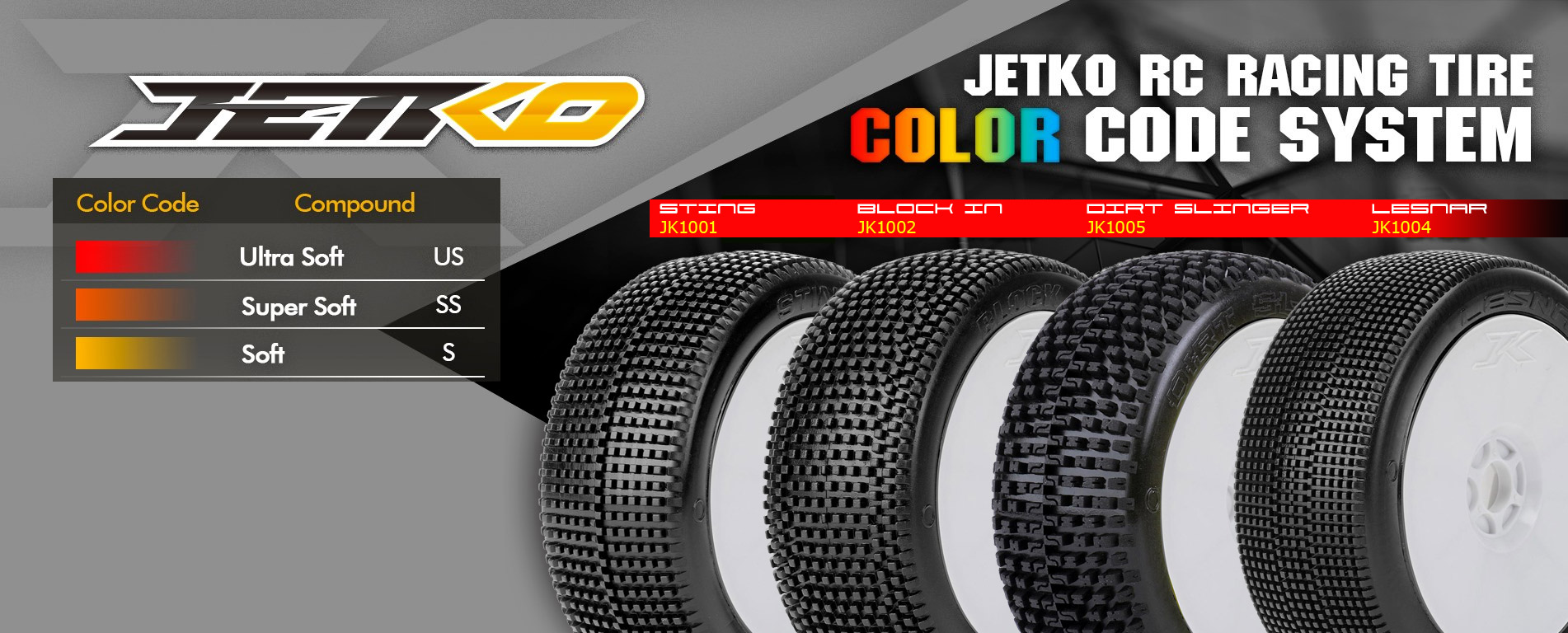 Gommes pneus Jetko